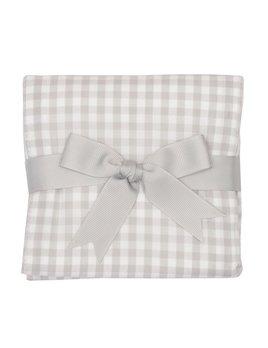 Burp Cloth Gray Check Burpcloth