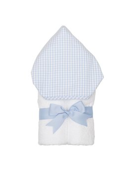 Towel Personalized Blue Check Everykid Towel