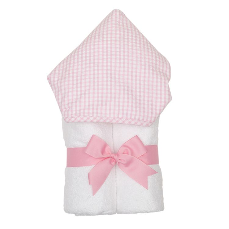 Towel Personalized Pink Check Everykid Towel