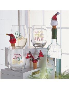 Tartan Stemless Wine Glass