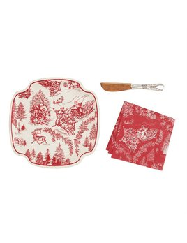 Platter Toile Cheese Set