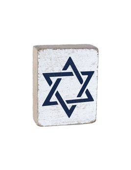 White Tumbling Block, Star of David
