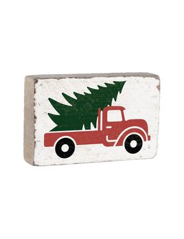 Rustic Marlin XL White Block w/ Tree Truck