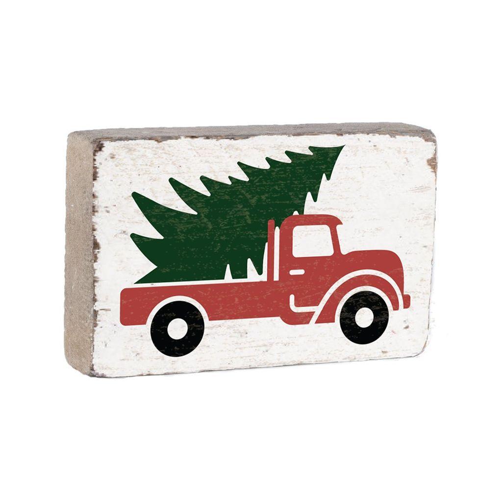 Rustic Marlin XL White Block w/ Tree Truck