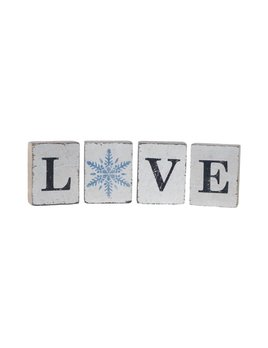 White Tumbling Blocks, Love Bundle Snowflake