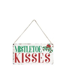 Sign Mistletoe Kisses - Mini Plank