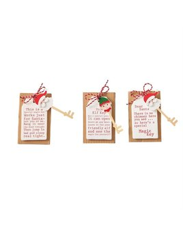 Santa & Elf Ceramic Tags