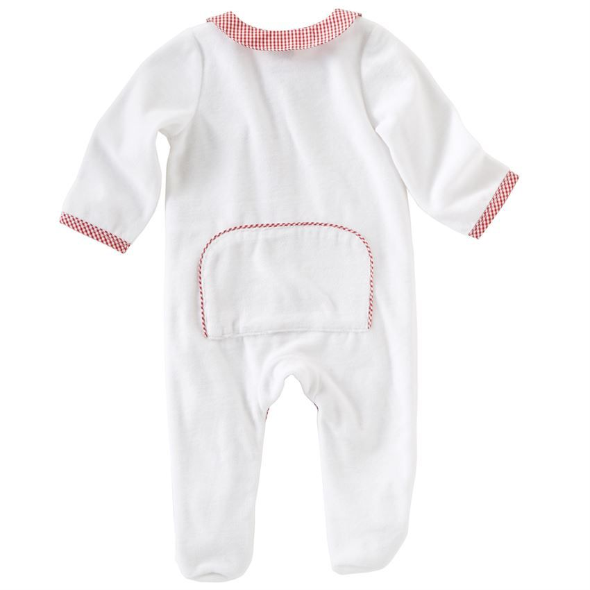 Onesie Monogrammed Holiday Velour Sleeper