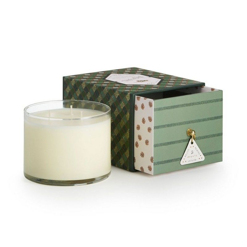 Trim the Tree Music Box Candle