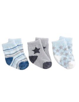 Baby Socks Boys Fuzzy Socks - 3 Pack Boxed