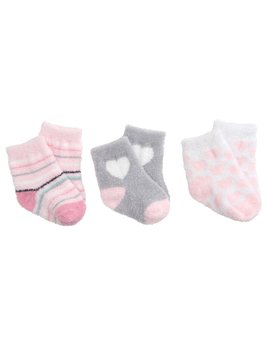 Girls Fuzzy Socks - 3 Pack Boxed