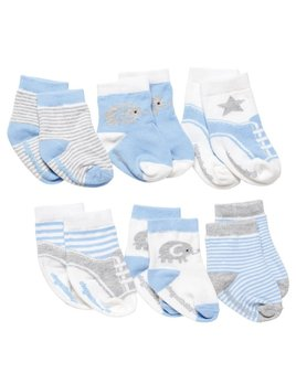 Baby Socks Cutie Blues Socks - 6 Pack