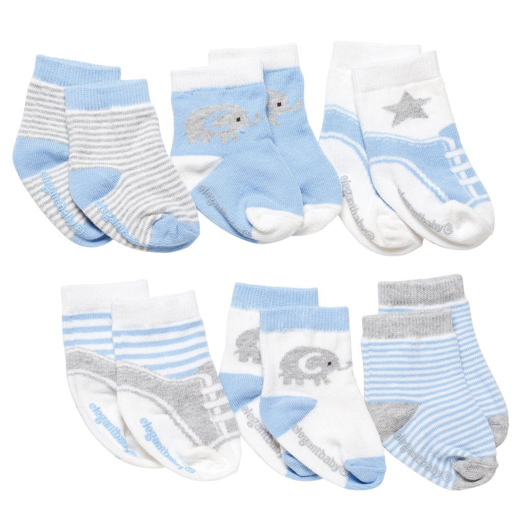 Baby Socks Boys Cutie Blues Socks - 6 Pack