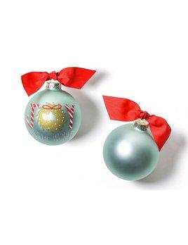 Ornament Joy To The World Wreath Glass Ornament