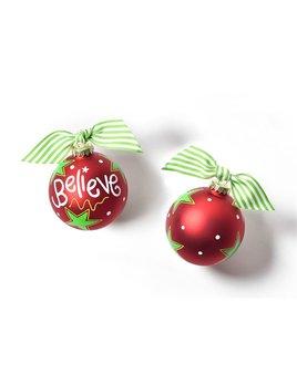 Ornament Believe Christmas Glass Ornament
