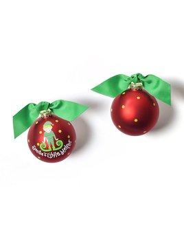 Ornament Santa's Little Helper Boy Glass Ornament