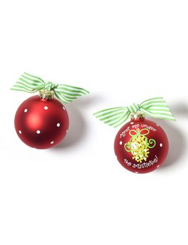 Ornament Meet Me Under the Mistletoe Glass Ornament
