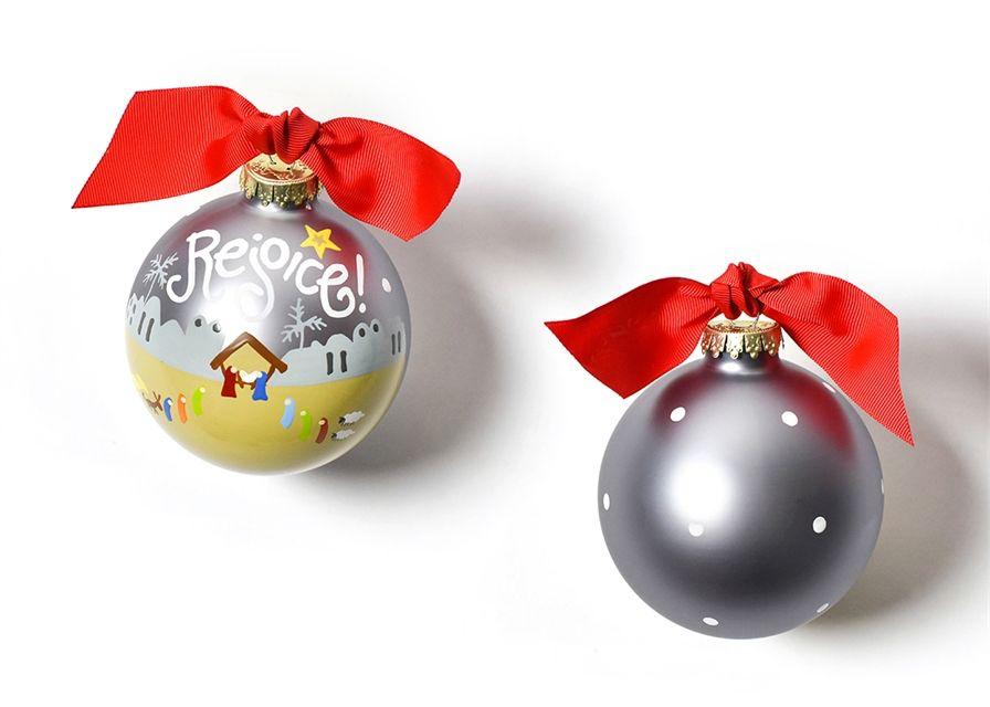 Ornament Rejoice Nativity Glass Ornament