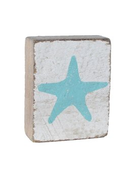 White Tumbling Block, Seaglass Starfish