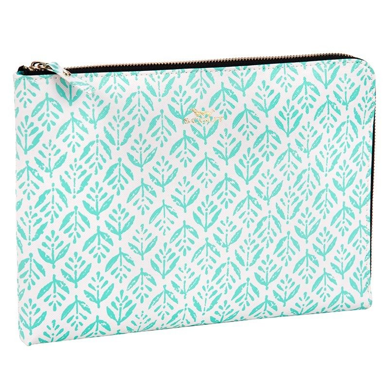 Clutch Zip File by Scout, Aqua Fresca