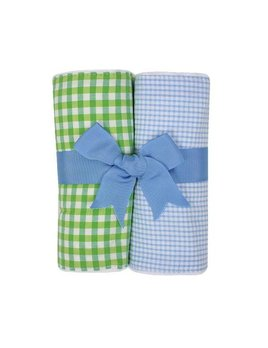 Burp Pads Blue Alligator Set of Two Burp Cloths
