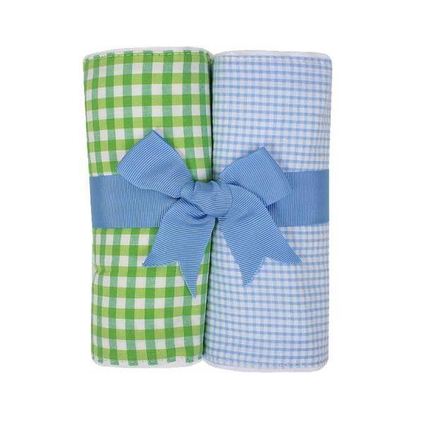 Burp Pads Blue Alligator Set of Two Burp Cloths
