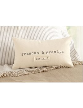 Pillow Grandparents Est. 2018 Pillow