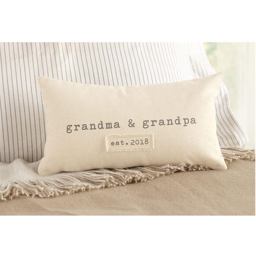 Pillow Grandparents Est. 2018 Pillow