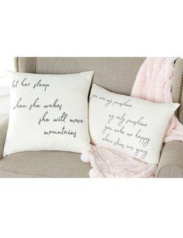 Pillow Handwritten Girl Nursery Pillow