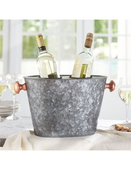 Bucket Personalized Copper Handle Tin WIne Cooler