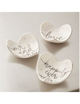 Ring Holder Silver Foil Heart Tidbit Dish