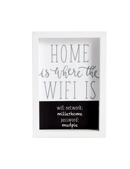 Sign Home is Where the Wifi Plaque