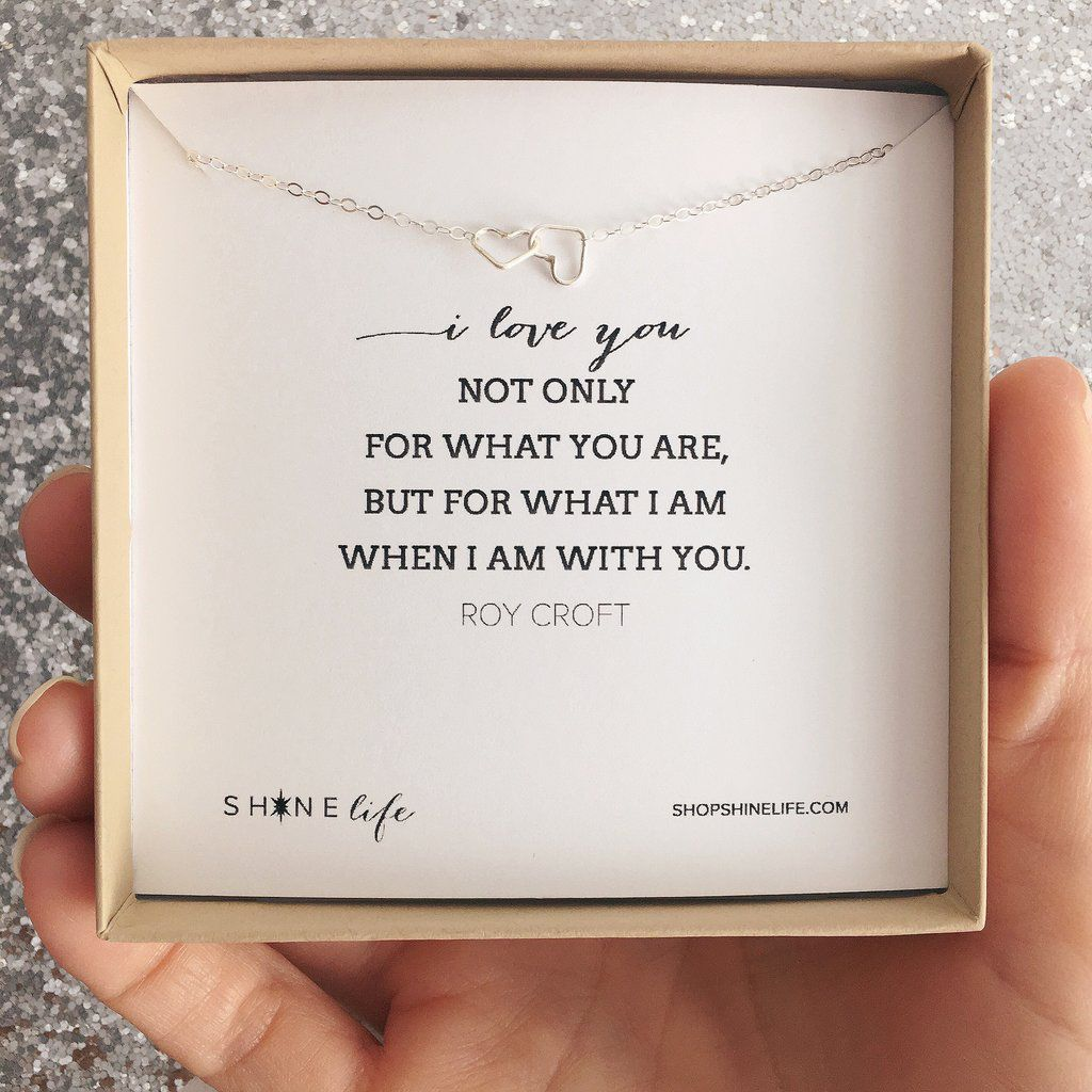 Necklace I love You Sterling Hearts by Shine Life