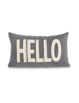 Pillow Hello Washed Canvas Pillow