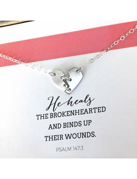 Necklace Mending Hearts Vermeil by Shine Life