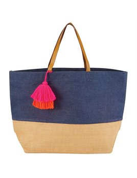 Tote Color Pop Jute Tote Bag