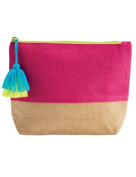 Cosmetic Case Color Pop Jute Case