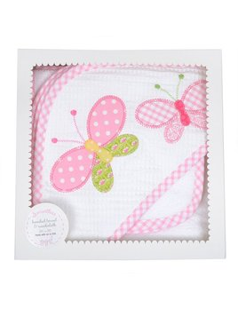 Towel Butterfly Boxed Hooded Towel & Washcloth Set