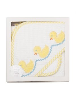 Towel Yellow Duck Boxed Hooded Towel & Washcloth Set