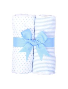 Burp Cloth Blue Bunny Set of Two Burp Cloths