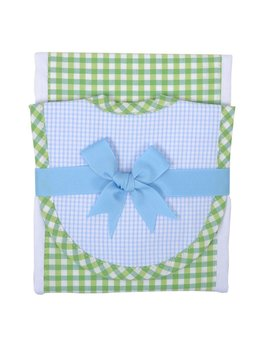 Burp Cloth Blue Alligator Drooler Bib & Burp Set