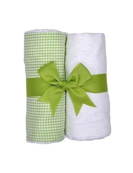 Burp Pads White Lamb Set of Two Burp Cloths