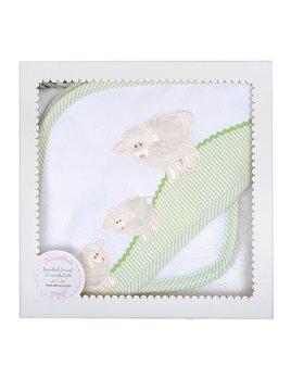 Towel White Lamb Hooded Towel & Washcloth Set