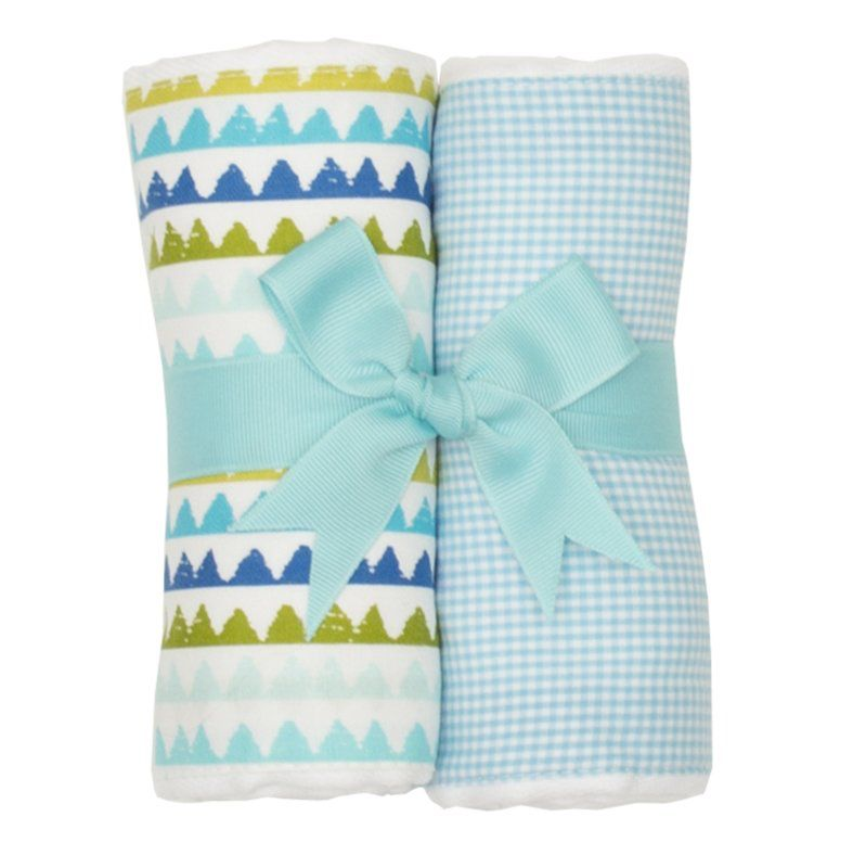 Burp Cloth Turtle Set of Two Burp Cloths
