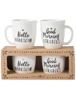 Mug Gorgeous/Handsome Ceramic Mug Set