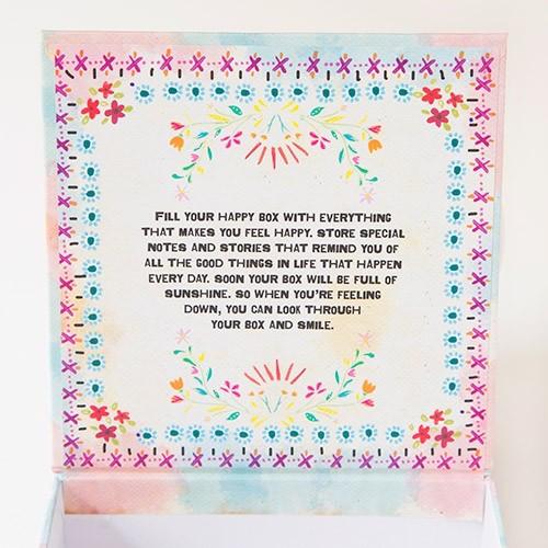 Box Happy Box Floral - Medium