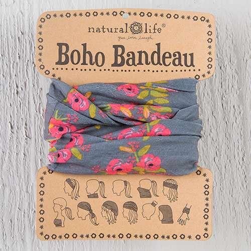 Charcoal Blooms Boho Bandeau