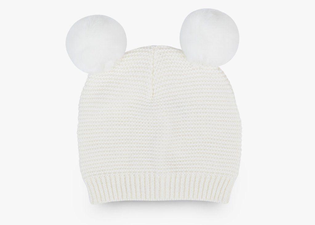 Hat Pom Pom Baby Beanie - Ecru
