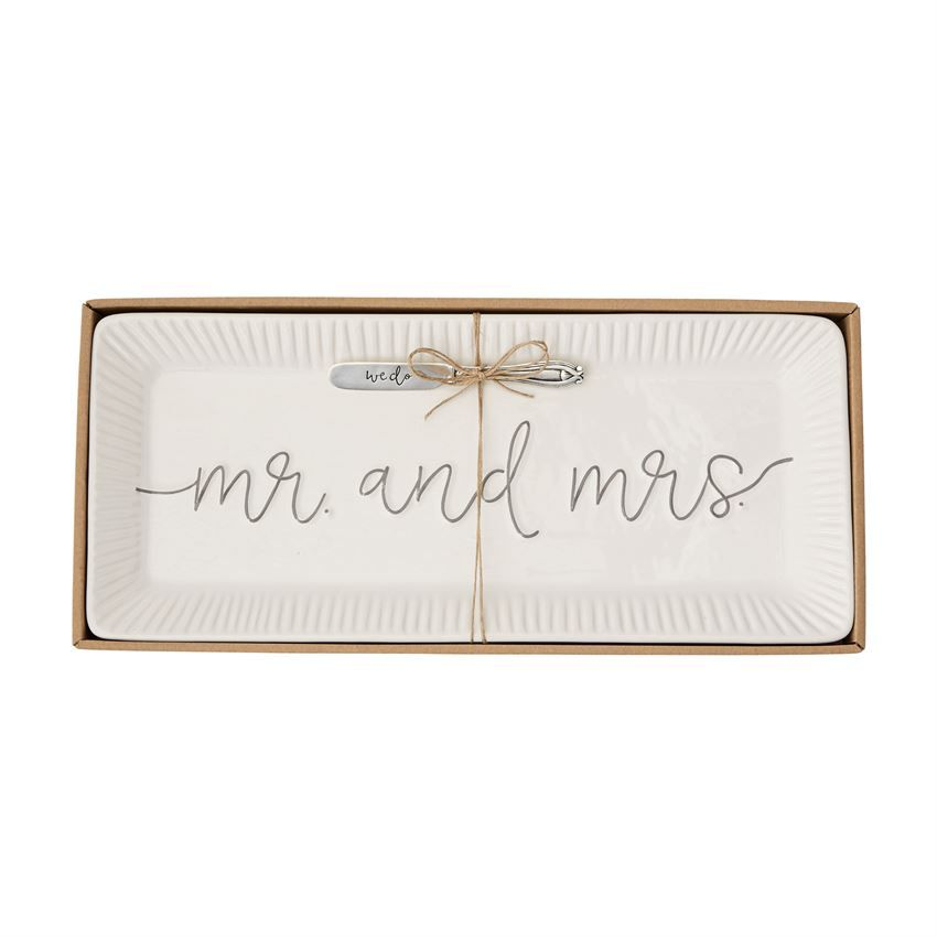 Platter Mr. & Mrs. Hostess Tray Set
