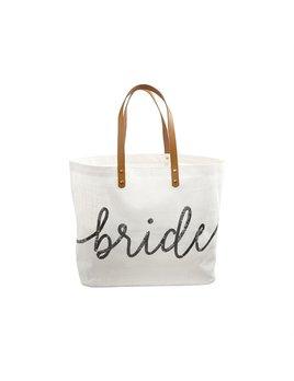 Tote Silver Sequin Bride Tote